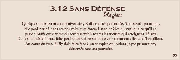 3.12 Sans Défense