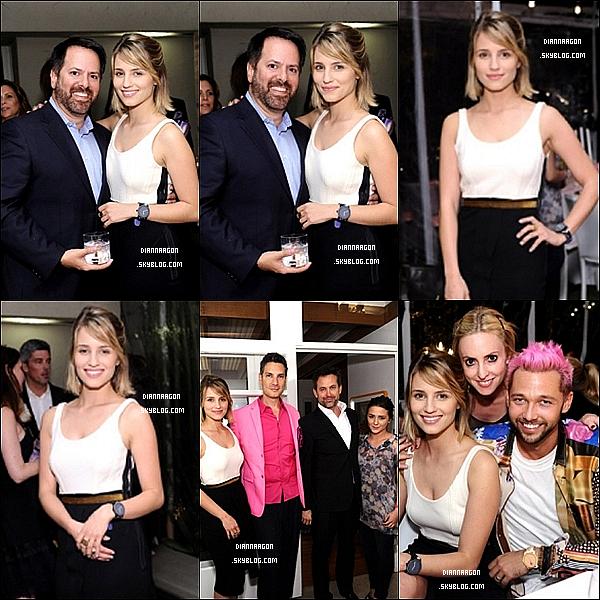 12 novembre 2011● La sublime Dianna s'était rendue sans maquillage au dîner organisé  par Chris Benz sa marque de montre « Movado Bold » à Los Angeles.
