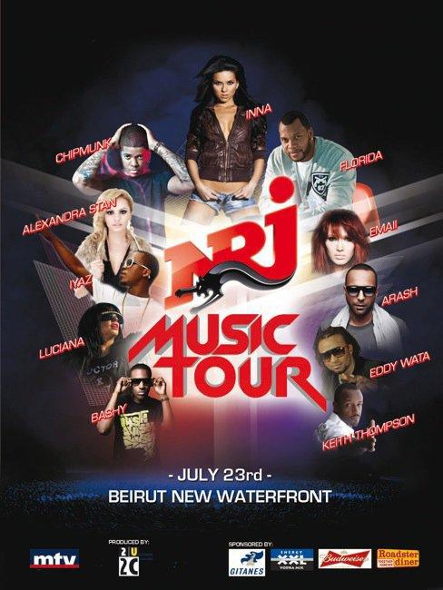 """Inna sera accompagné de multiples artistes ( connus et pas connus ) lors du NRJ Music Tour qui se tiendra le 23 Juillet prochain. Elle chantera surmeent en Live son nouveau hit """" Club Rocker """" avec Flo Rida ou pas pusiqu'il est également de la partie !"""