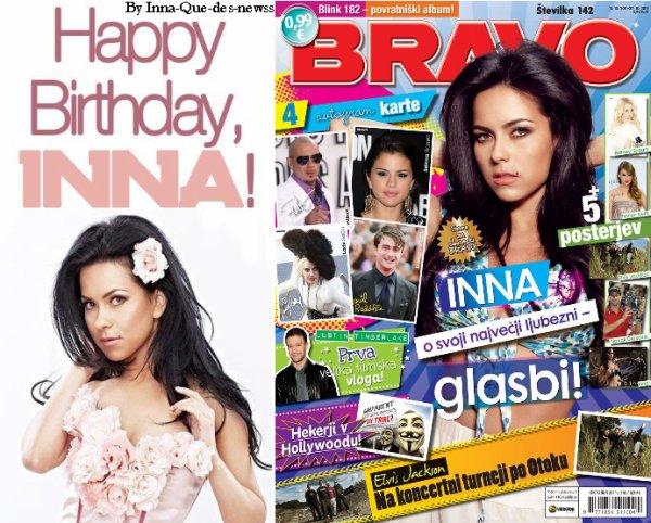 Inna : BONNE ANNIVERSAIRE !!! Et Inna apparait dans un magazine en Slovenie !
