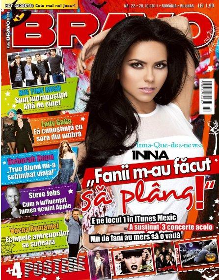 """Nouveau numéro de """"Bravo"""" où Inna fait la couverture ! Il s'agit d'un magazine Roumain !"""