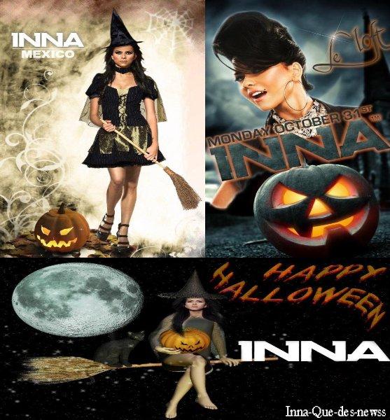 Des fans d' Inna ont fait des montages pour Halloween .. Voici les résultats !