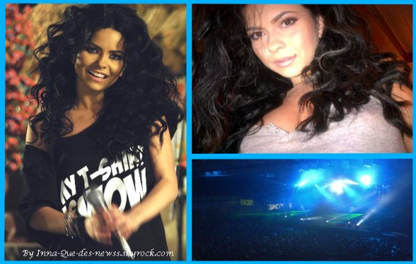 Inna tournant son clip W.O.W // POhoto prise par elle-meme // Public de son dernier concert !