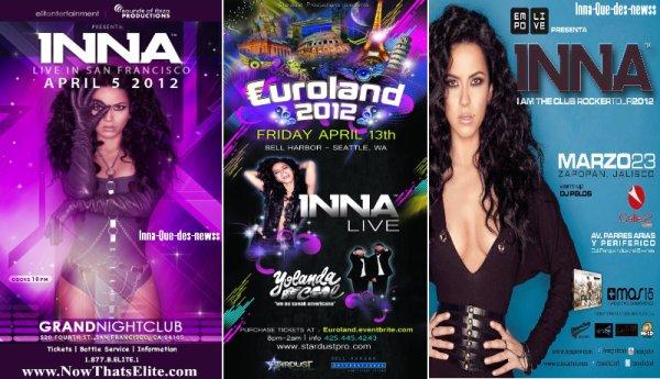 [ New du 15 Mars ] - Voici 3 affiches exclusives où Inna fera ses show prochainement !