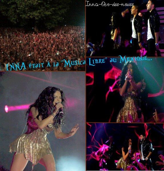 """[ New du 02 avril ] INNA était à la cérémonie des """"Musica Libre"""" ( au Mexique ) : Photos + Live."""