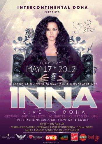 [ New du 20 mai ] Inna performe comme une vraie performeuse à Doha ( pres de L'Arabie Saoudite ) au Quatar. Photos + Live ! Amazing - INNA