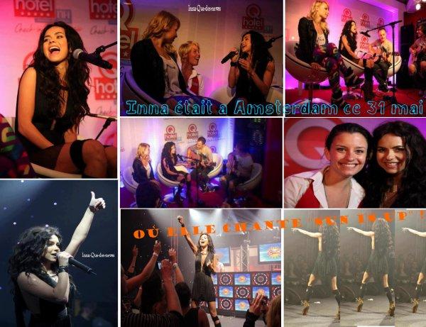 """[ New du 2 juin ] Inna à Amsterdam pour le Q-music. Elle chante """"Sun is up"""" : Photos + Live !"""