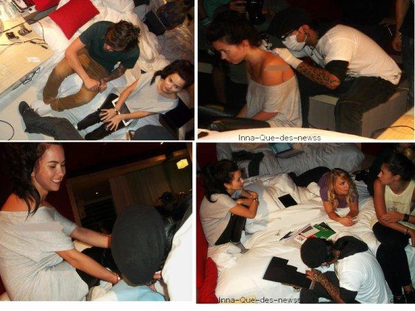 [ Article du 30 septembre ] Pour vous, toutes les photos prises lors de la pose du premier tatouage d' INNA !!!