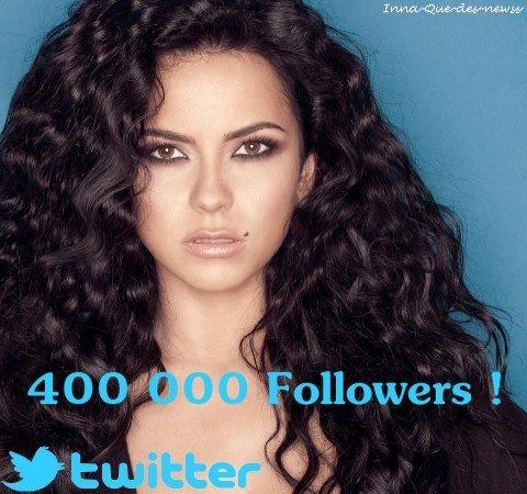 [ Article du  18 novembre ] 400 000 abonnés pour INNA sur Twitter !!