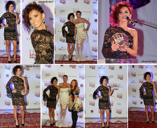 [ Article du 15 décembre ] INNA était cette semaine au Elle Style Awards 2012. Elle a remporté un prix !