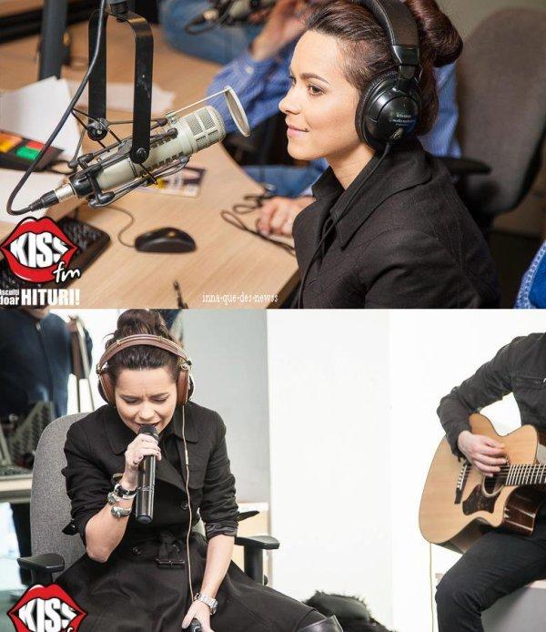 """[ 2eme Article du 17 mars ] INNA était hier au Kiss FM pour la promo de ses deux derniers singles """"More than friends"""" et """"P.O.H.U.I"""" ! Découvrez Lives & photos !"""