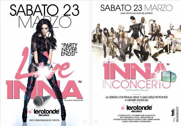 [ Article du 27 mars ] Photos + Live d' INNA en Italie le 23 mars dernier !!