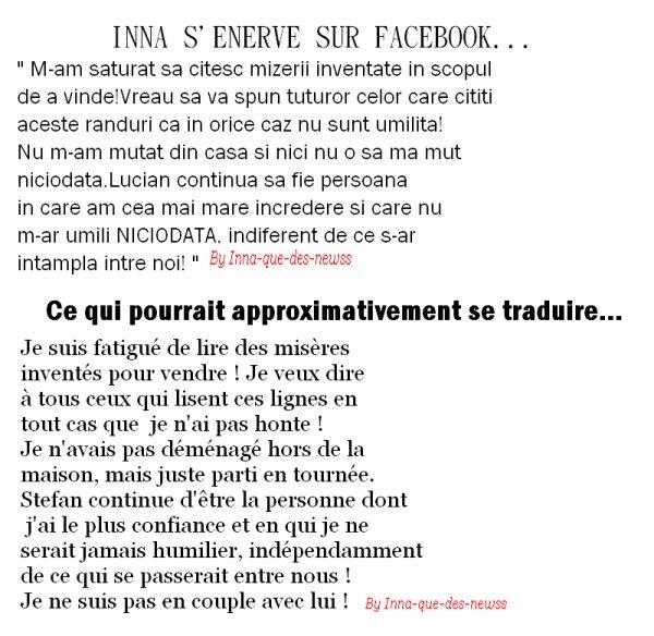 [ New du 08 avril ] Petite Lettre qu' INNA a rédigé envers les gens et les paparazzis ... +¨BONNE NOUVELLE !