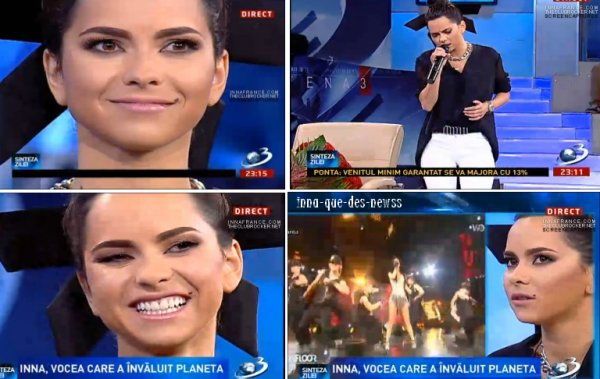 """[ Article du 11 mai ] Le live d' INNA sur """"P.O.H.U.I"""" dans un journal télé hier soir en direct !"""
