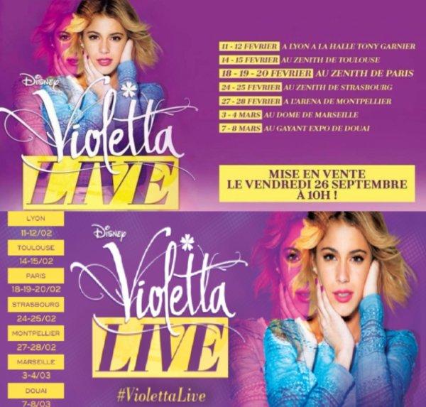 La tournée de Violetta Live, bientôt en France!