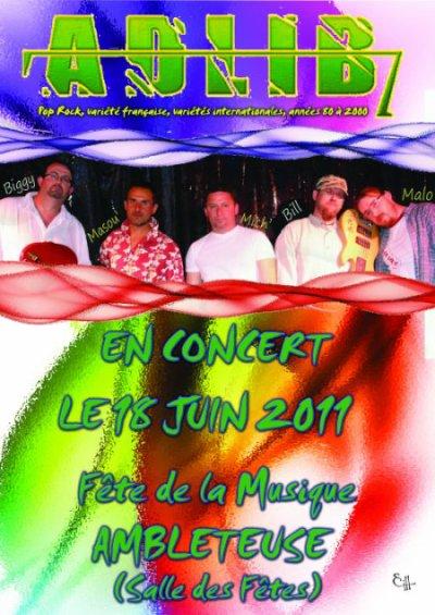 Concert Adlib7 à Ambleteuse le 18 juin 2011