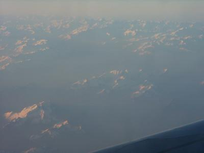A321 au dessus des Alpes