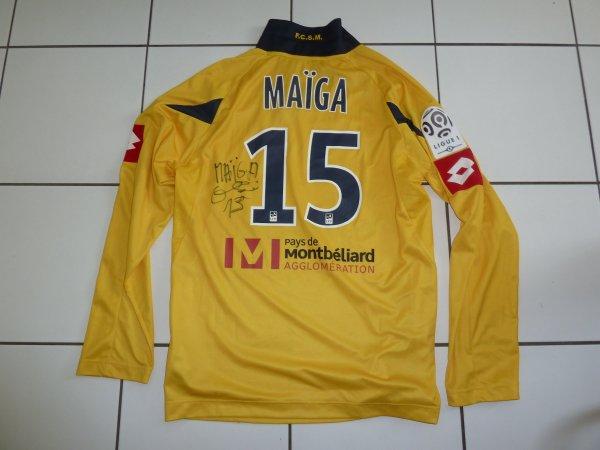 maillot porté et signé par Modibo Maiga contre Rennes