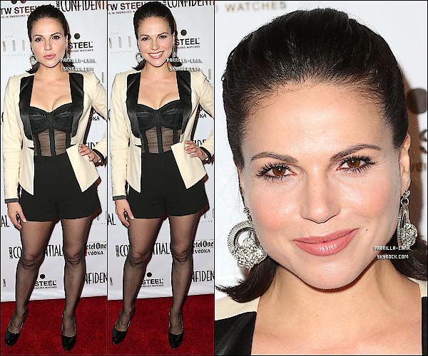 .     20/09/12 : - Lana s'est rendue à la pré-soirée Emmy organisée par le magazine « Los Angeles Confidential ».     .