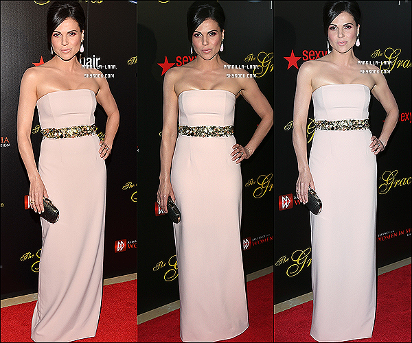 .     21/05/13 : - Lana était présente au 38ème événement annuel des « Gracie Awards Gala » à Beverly Hills, en Californie.     .