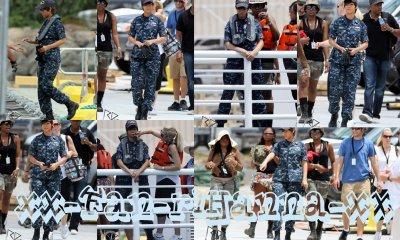 Rihanna sur le tournage du film « Battleship »
