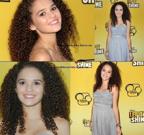 """.   7 Juin 2012 : Madison été présente sur le tapis rouge de la première du film """"Let it shine"""" , à Santa Monica à Los Angeles .  Top ou Flop votre avis. ."""
