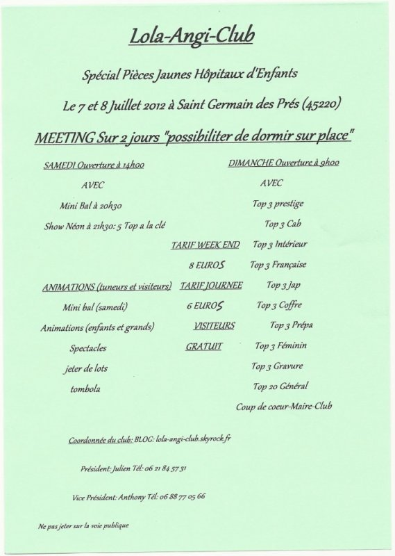 1 er meeting du lola-angi-club
