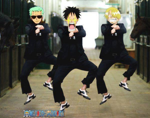 one piece gangnam style