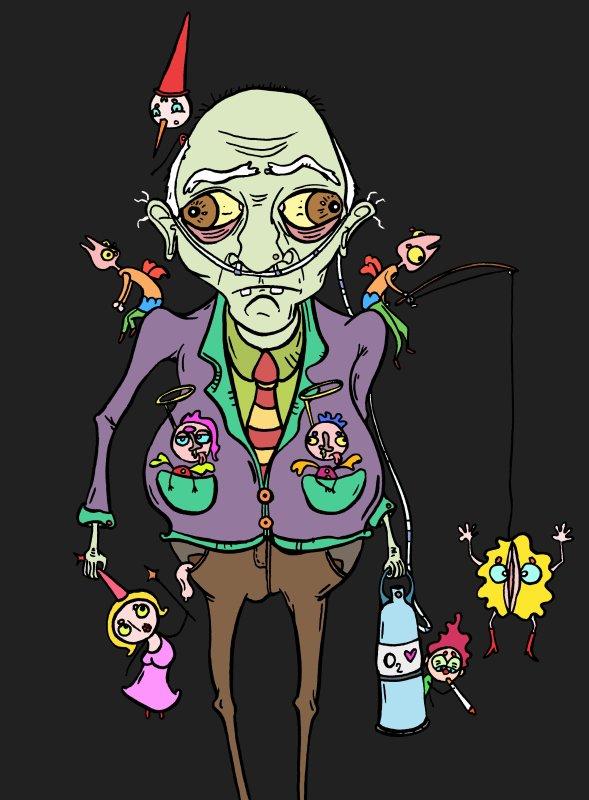 Papy Michel et l'homme-mucus