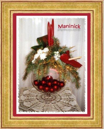 Compo de Noël sur maxi verre à cognac