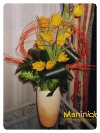 Tulipes dans son Arceau de Rotin
