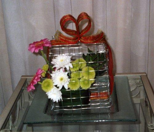 Offrir des Fleurs en Cage !