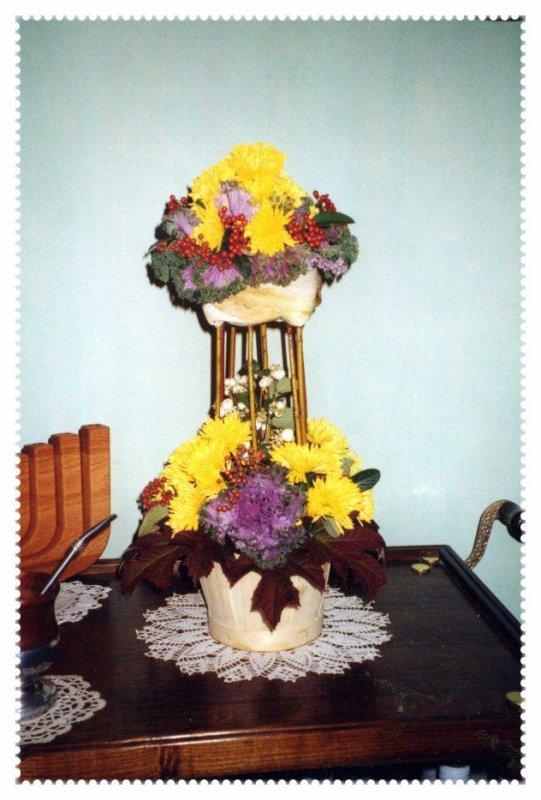 Une Tour fleurie à 2 étages !