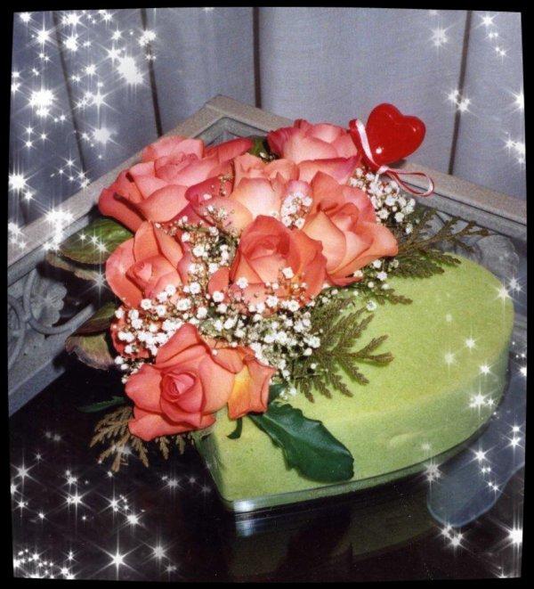 St Valentin .... Coeur Fleuri