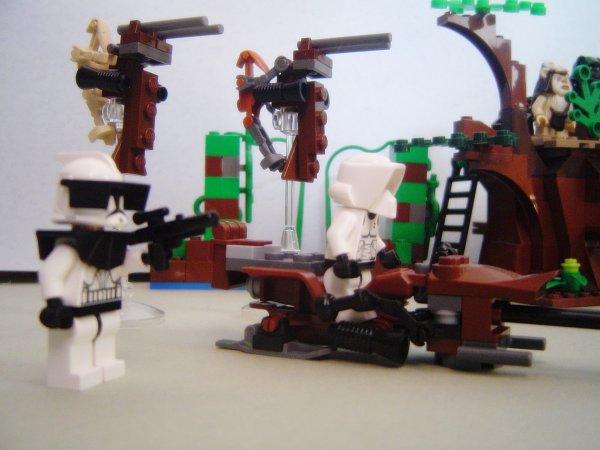Maison de fôret lego star-wars