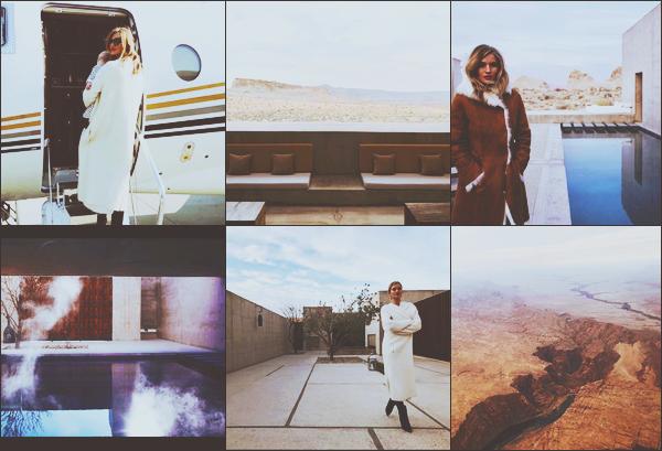 """. """"@INSTAGRAM •"""" Notre belle Rosie a pris l'avion direction l'état de l'Utah pour y passer des vacances en famille !En effet la belle a pris un jet privée pour se rendre dans cette magnifique demeure isolée dans les gorges de l'Utah. Les photos sont splendides! Top ! ."""