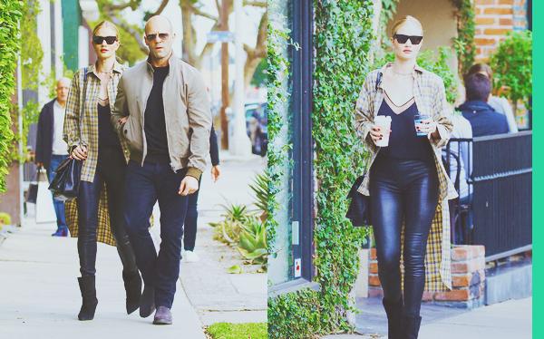 . .23/12/17. ▬ Rosie et son mari Jason ont été vu s'achetant un café dans les rues de West Hollywood - CalifornieAprès un court séjour en Utah le petit couple sont de retour sur L.A. J'aime bien les voir ensemble, et j'aime beaucoup la tenue de R. ! .