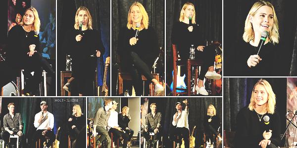 . ''11.02.18'-  ▬ Claire Holt était présente à la convention The Vampire Diaries / The Originals qui avait lieu à Nashville. Elle était en compagnie de ses co-stars Joseph Morgan et Daniel Gillies. Dommage que les autres ne soient pas là. .