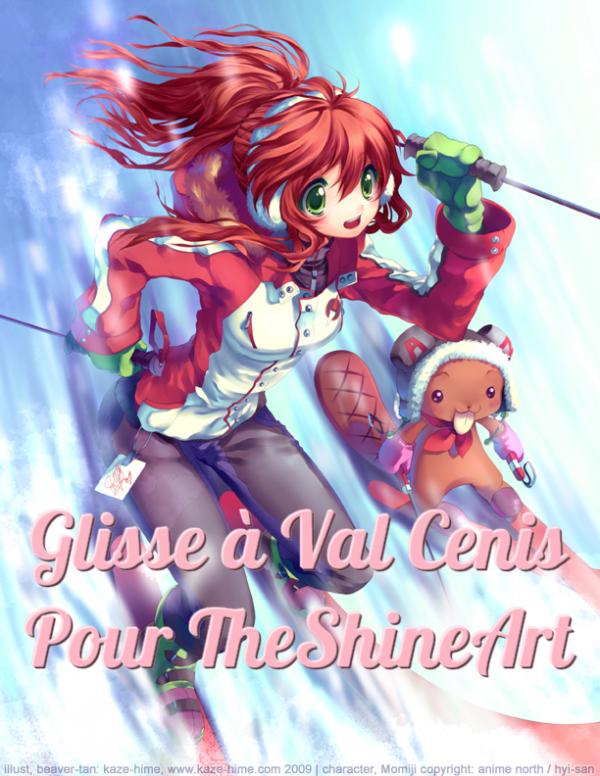 Glisse à Val Cenis pour TheShineArt