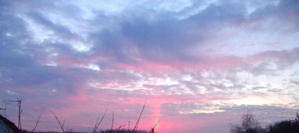 Vue de ma chambre, coucher de soleil.