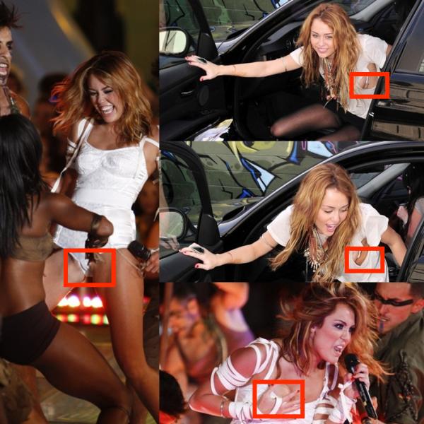 Hey Miley , on comprend que tu veux changer , mais tu en fait un peux trop avec tes tenus très sexy ou ont voix ton corps . Alors trouve tu ces tenus choc-antes ?