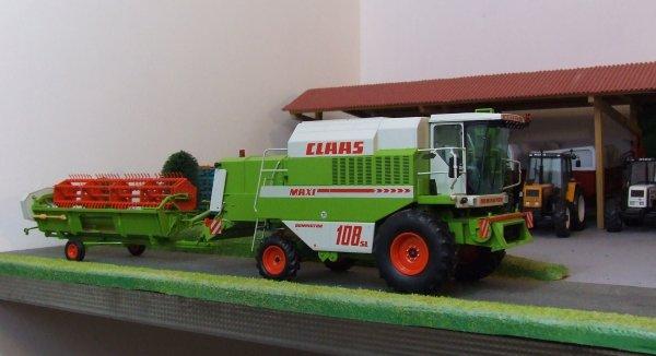 Claas Dminator 108 SL MAXI et coupe C510 (Norev)