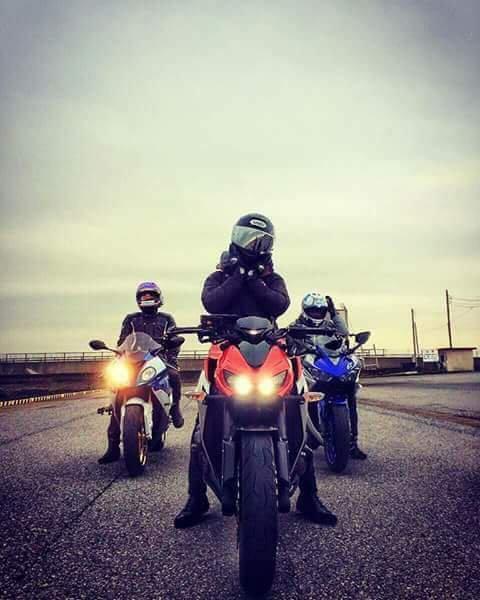 Avec mes amis en Moto