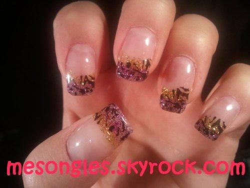 Dégradé violet jaune + tampon zèbre