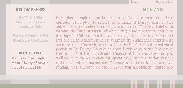 Orgueil & Préjugés 1995