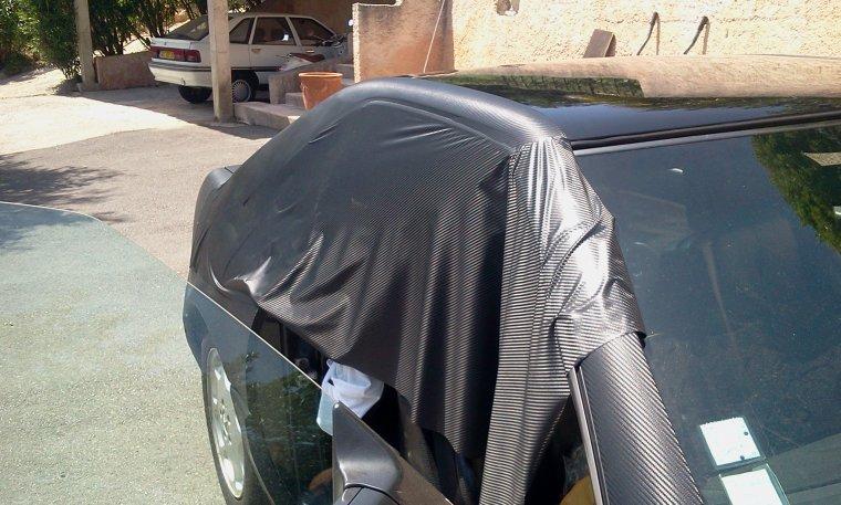 Mercedes SL 500 Total Black Carbon RoyalCovering (part 4)