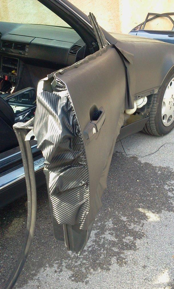 Mercedes SL 500 Total Black Carbon RoyalCovering (part 5)