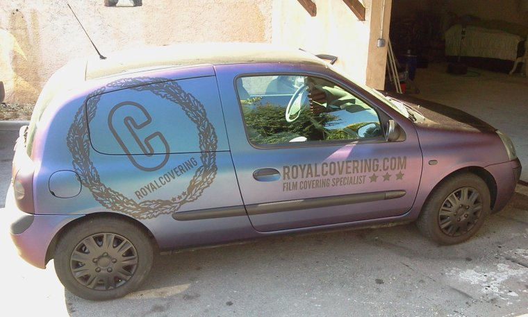 Clio carbone caméléon Royalcovering (part 6)