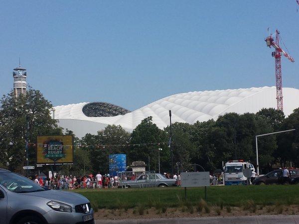 Demi-finale stade Vélodrome à Marseille ! Bob et Marie-Françoise supportent les BLEUS  !