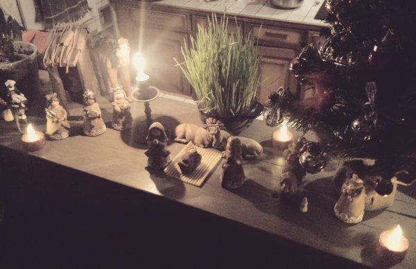 Je vous souhaite un Joyeux Noël  mes amis ! une intrusion dans crèche ???
